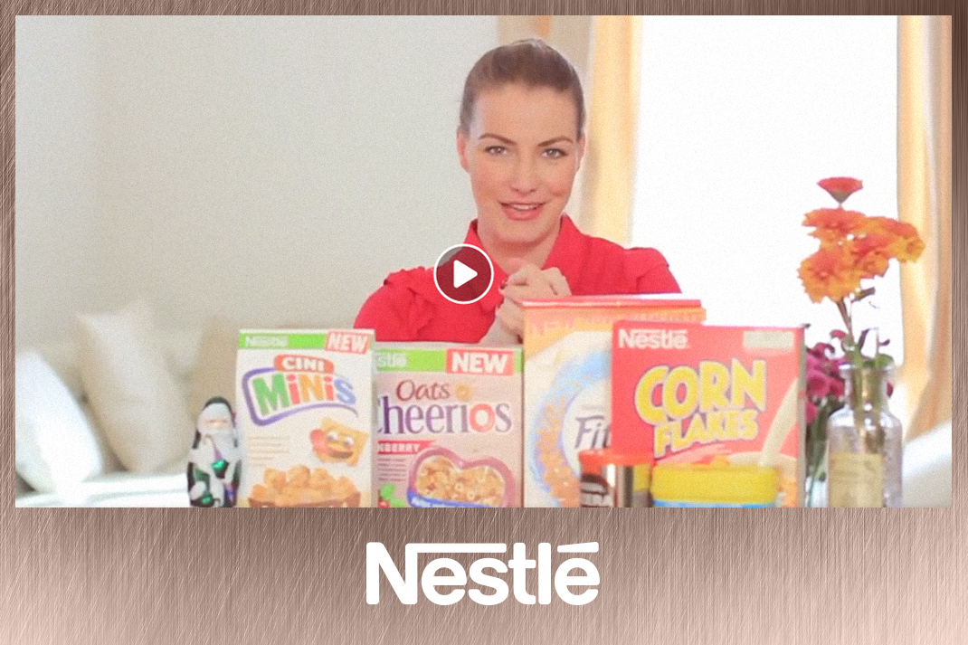 Takács Nóra videós együttműködés Nestlé