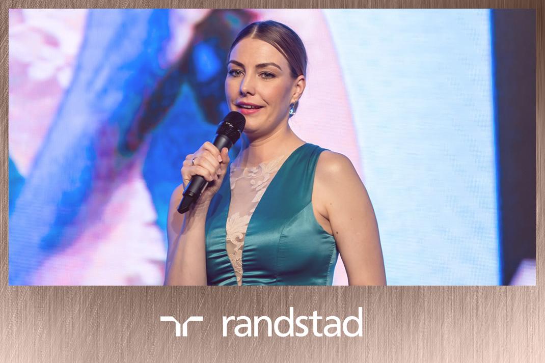 Takács Nóra műsorvezetés Randstad